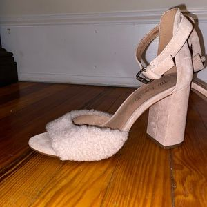 Madewell pink blush shearling shoes sz 7